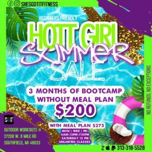 Class: HOTT Girl Summer Bootcamp Sale